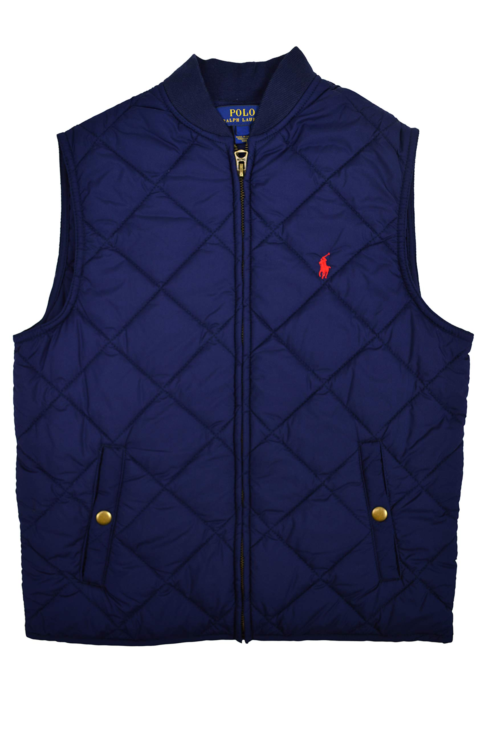 Polo Ralph Lauren Boys Diamond Quilted Vest, French Navy Blue (M (10-12)) by Polo Ralph Lauren