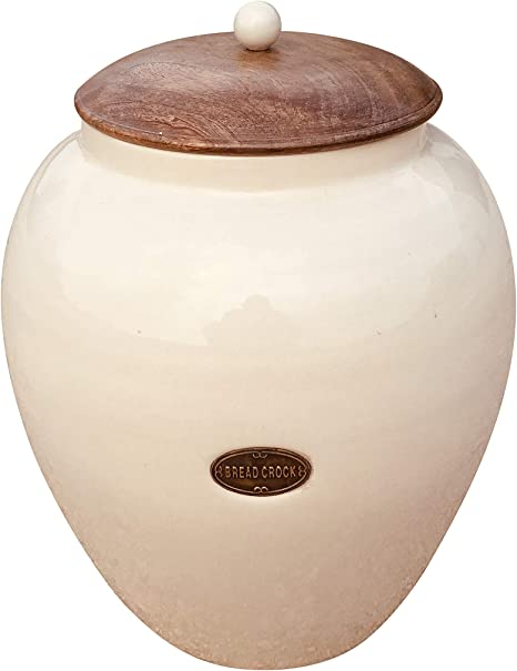 Geko Cream Ceramic Bread Bin Large One Size Amazon Co Uk Kitchen Home