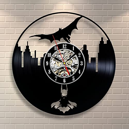 Batman Gift Vinyl Wall Clock-Unique Home Decor That Will Suit to Any Interior – Handmade Gift for Birthday Anniversary or Any Other Occasion Gift for Him Gift for Her