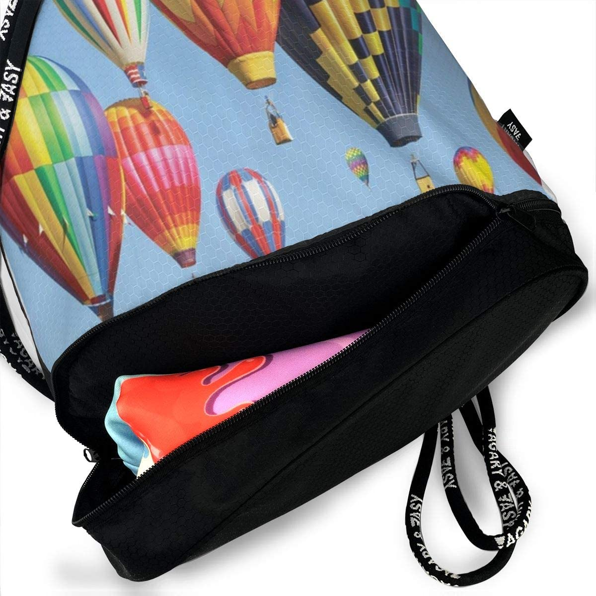 Seuriamin Many Balloons Fly In The Sky Shoulder Bag Pumping Rope Backpack