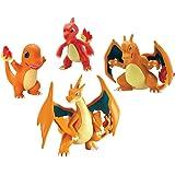 Tomy Pokeman 4 Figure Gift Pack, Charmander, Charmeleon, Charizard And Mega Charizard