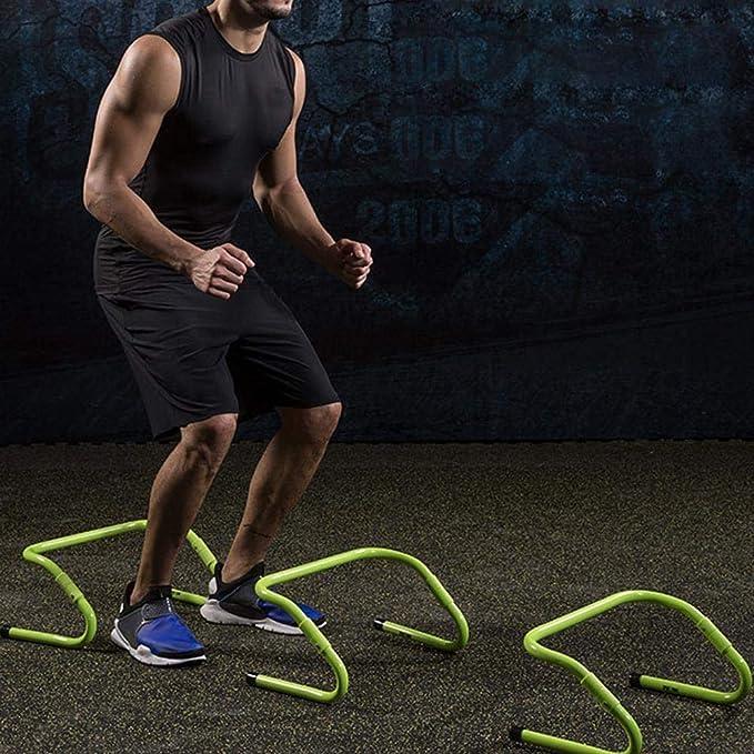 Fitness-Leiter Springen Zaun-Training Laufen Rugby Fitness-Leiter 4 St/ück PP-Material Fu/ßball Agility-H/ürde Domitlar Verstellbare Geschwindigkeitstraining Leichtathletik