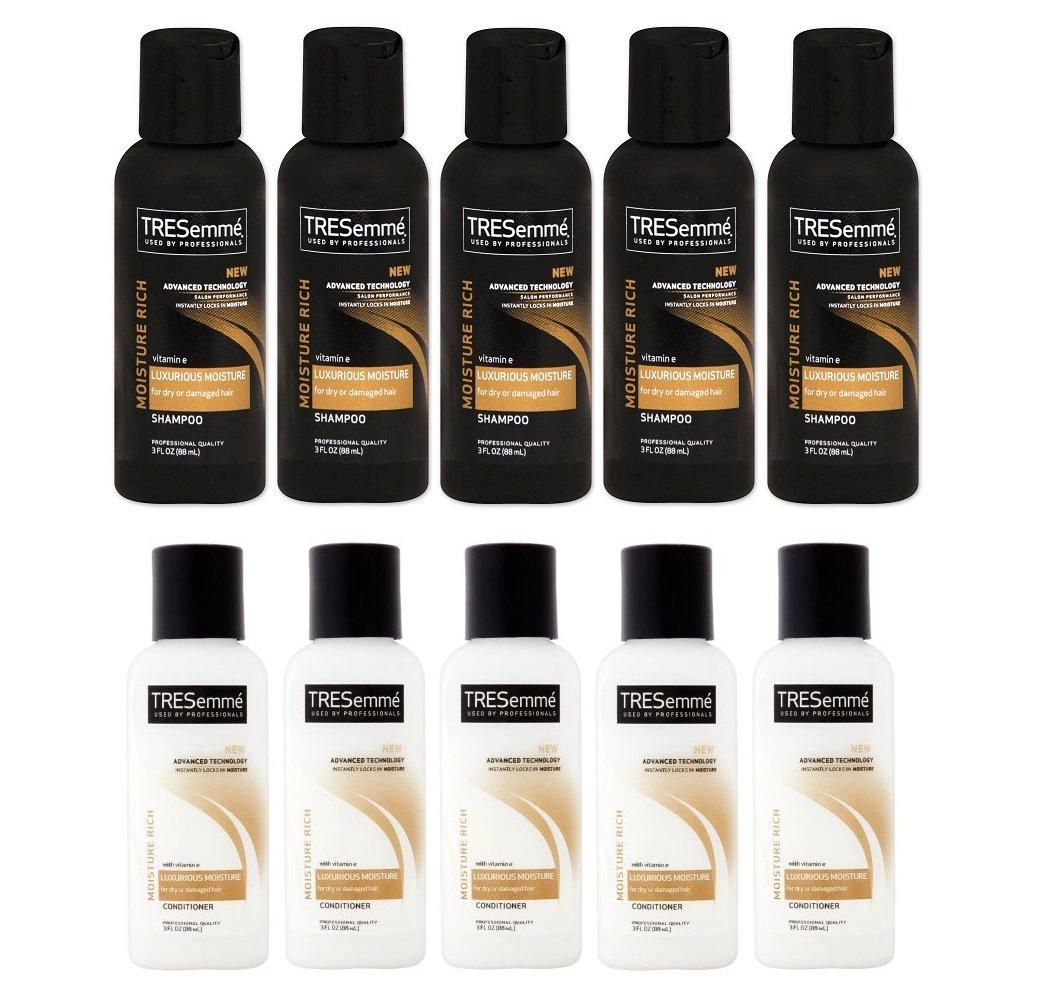 TRESemme Moisture Rich Shampoo & Conditioner, 3 Fl. Oz. Travel Size 5 Duo sets