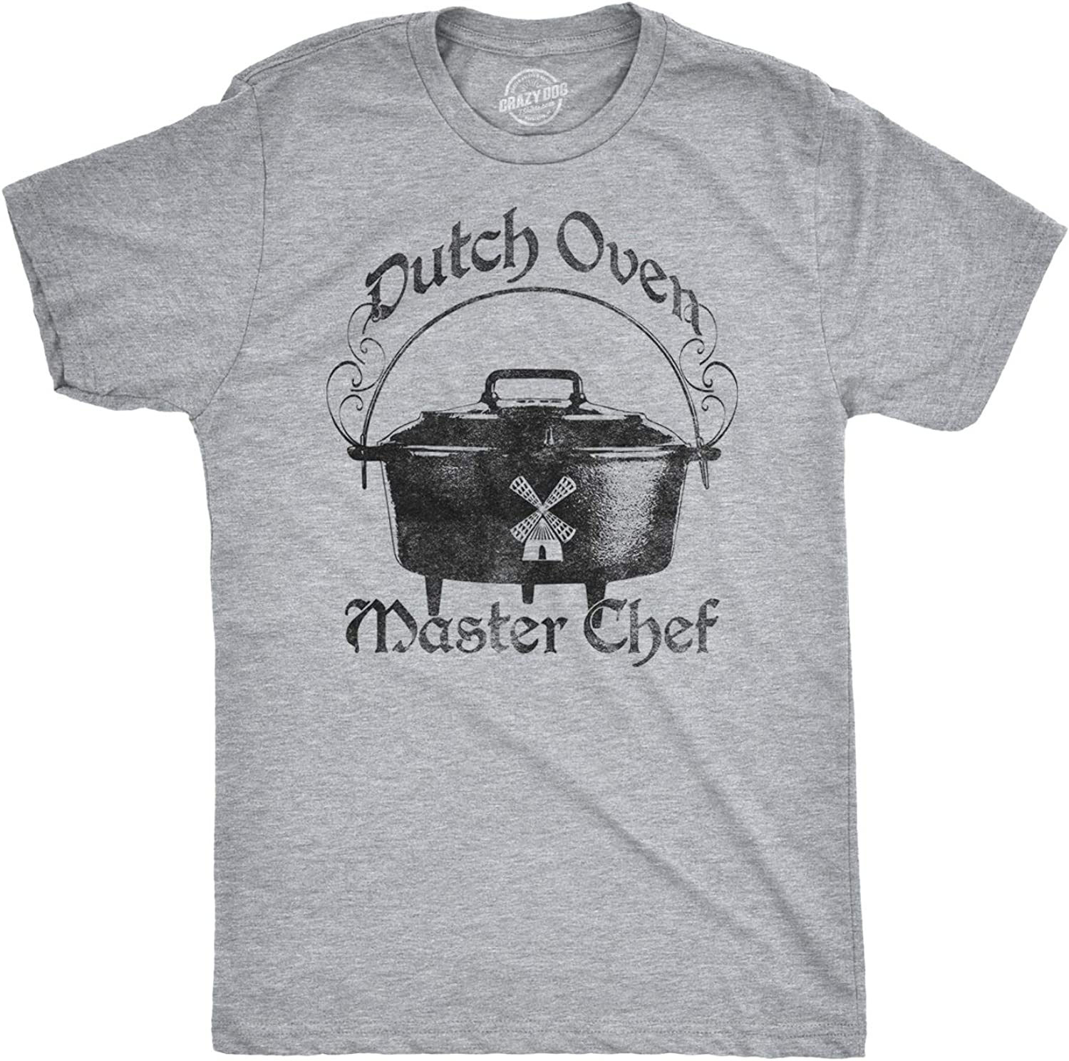 Mens Dutch Oven Funny Master Chef Hilarious Vintage Amish Cooking T Shirt
