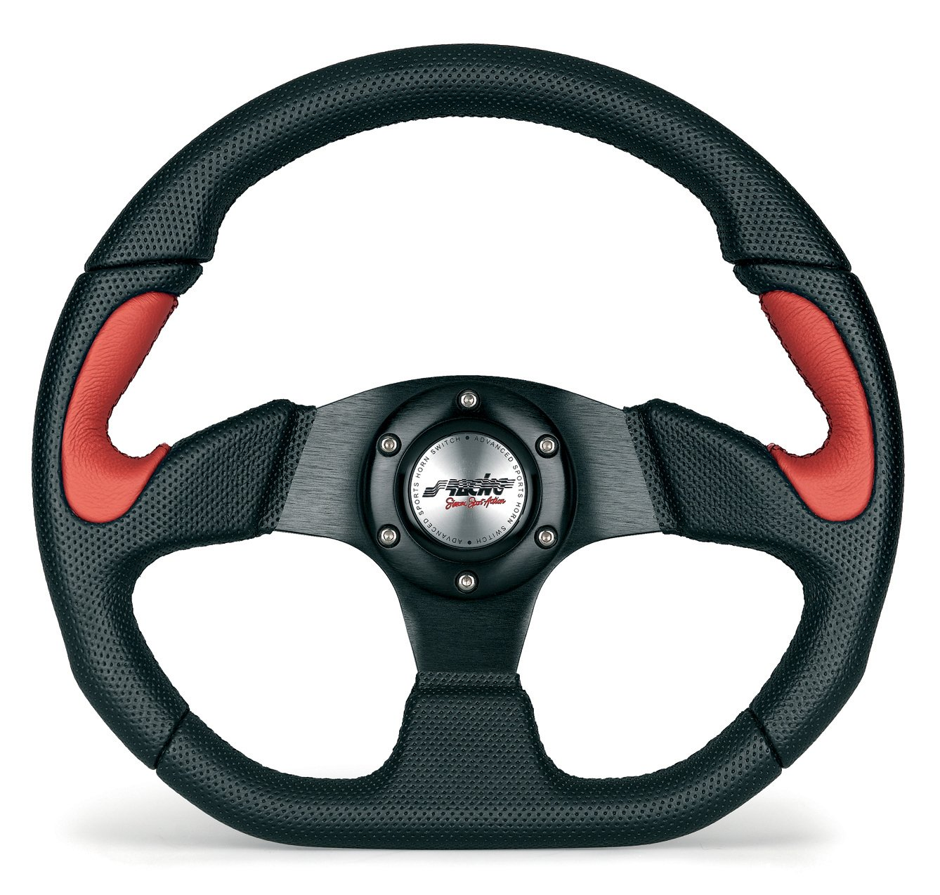 Simoni Racing X2330PUN/PR Universal Steering Wheel, Red