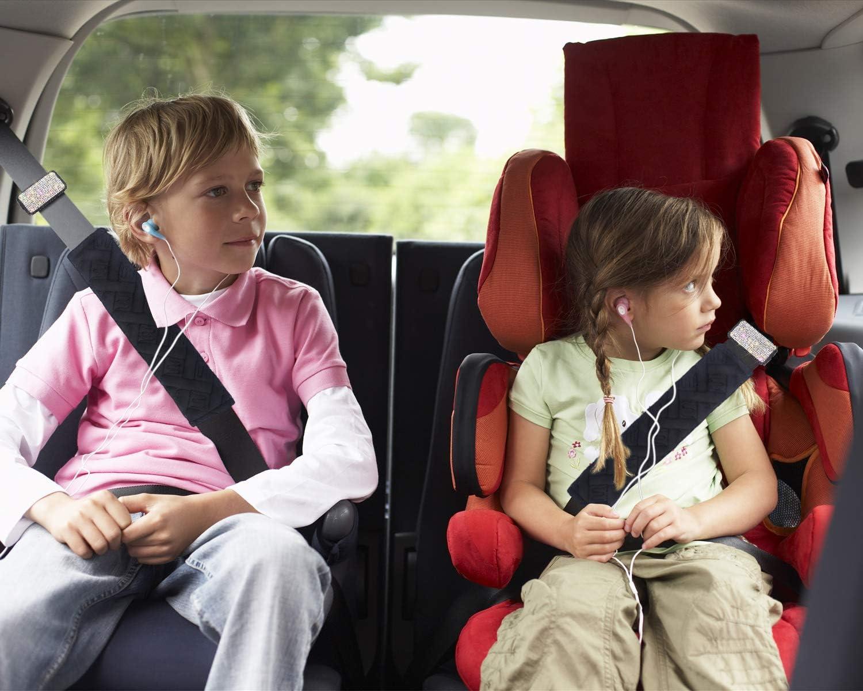 Auto Shoulder Neck Strap Positioner,Seat Belt Clips Universal Fit Royalfox bling diamond Seat Belt Adjuster For Adults,Kids,Women /& Short People Safety Belt Comfort colorful