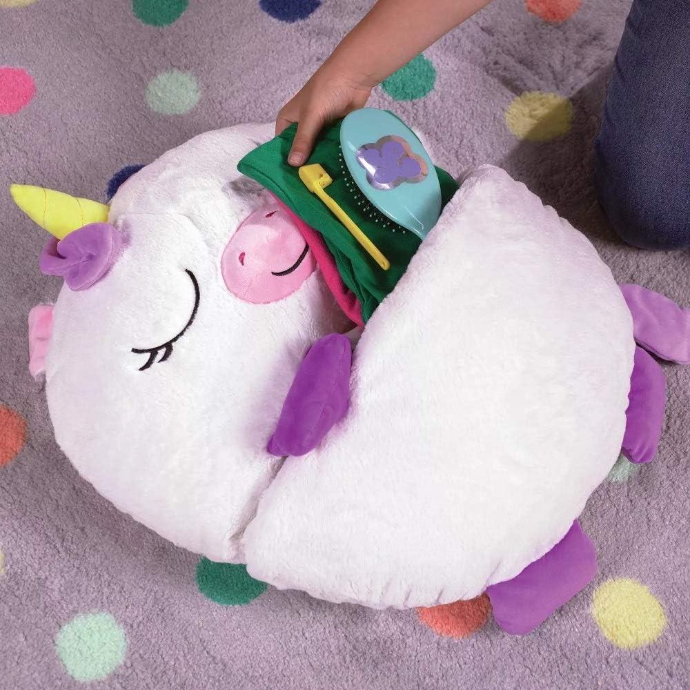 Xiaoxingyun Play Pillow Cute Animal Sleeping Bag for Kids 138 x 50cm Pink Cat Foldable Soft Fun Sleeping Bag
