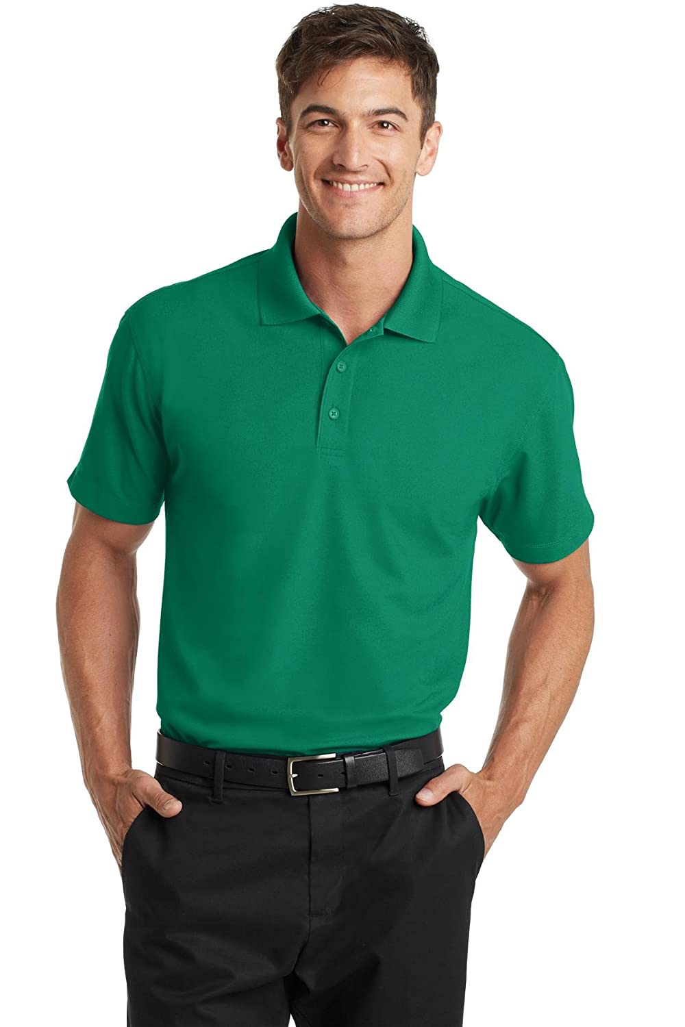 81d337b5 Port Authority Men's Dry Zone Grid Polo at Amazon Men's Clothing store: