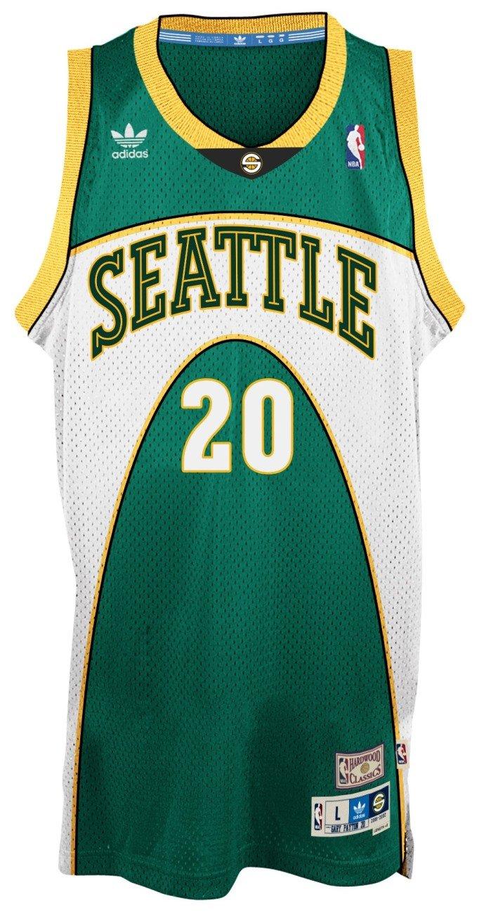Amazon.com   Gary Payton Seattle Supersonics Adidas NBA Throwback Swingman  Jersey - Green   Sports   Outdoors 2fa5fe9d2