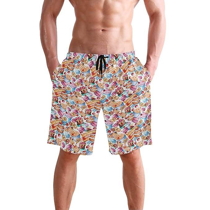 6e00b708c6 Amazon.com: Casual Mens Swim Trunks Breathable Quick Dry Printed ...