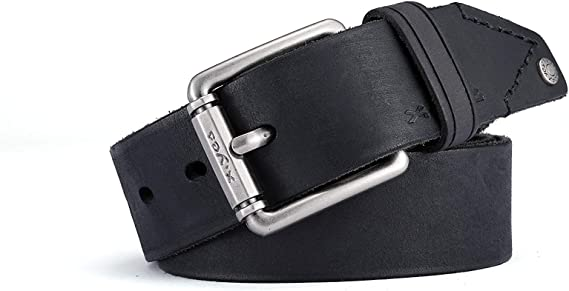"""Mens Luxury Leather Belt 1.5/"""" 40mm High Quality Vintage Style Belts"""