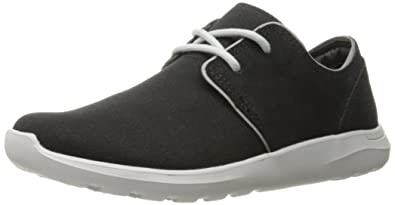 Crocs Men's Kinsale 2-Eye Shoe M Fashion Sneaker, Black/Pearl White,