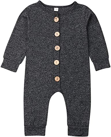 I Love Mom Dad Organic Baby Boy Girl Grow Long Sleeve Bodysuit Jumpsuit Romper