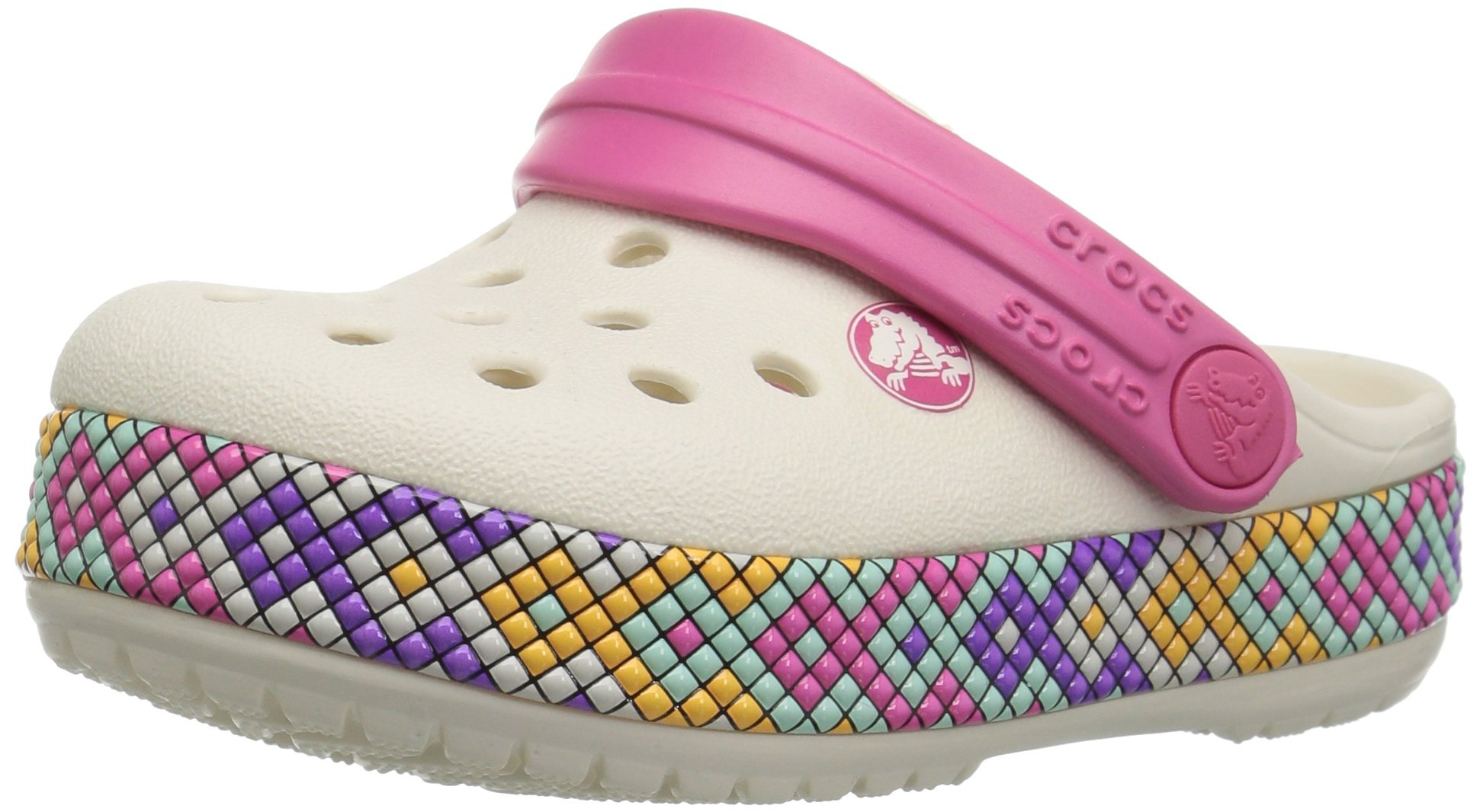 Crocband Gallery Clog K Oyster, 7 M US Toddler