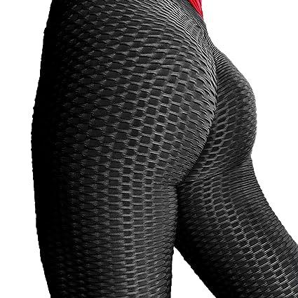 3706d4278f20f3 YOFIT Womens Sexy Yoga Pants Ruched Butt Push Up High Waist Training Sport  Stockings Running Gym