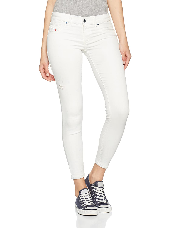 Diesel Livier-Ankle Pantaloni, Vaquero Skinny para Mujer
