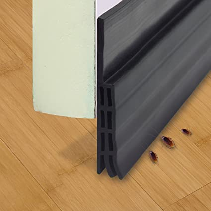 Under Door Sweep Weather Stripping Door Bottom Seal Strip Door Draft Stopper Door Weather Seal & Amazon.com: Under Door Sweep Weather Stripping Door Bottom Seal ...
