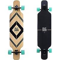 Playshion 39 Inch Drop Through Freestyle Longboard Skateboard Cruiser