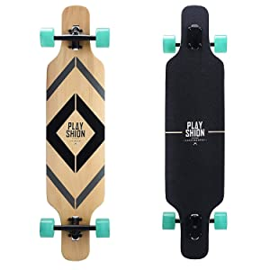Playshion 39 Inch Drop Through Freestyle Longboard
