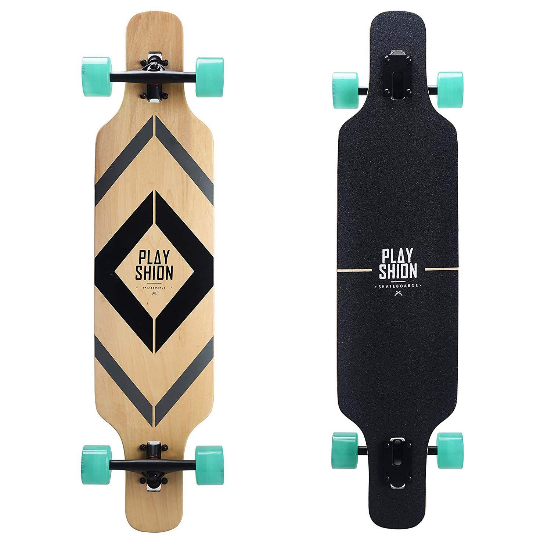 Playshion 39 Inch Drop Through Freestyle Longboard Skateboard Cruiser 031534c11f