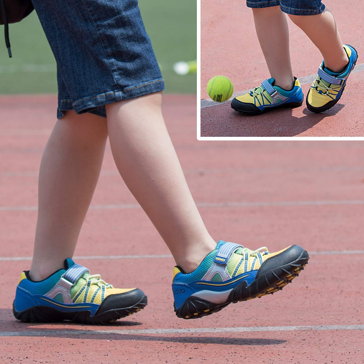 UOVO Little Boys Shoes Running Sneakers Kids Hiking Athletic Tennis Shoes for Toddler Boys Blue by UOVO (Image #7)