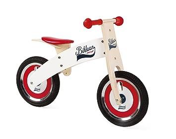 Janod Bikloon Bicicleta sin Pedales de Madera, Rojo y Blanco ...
