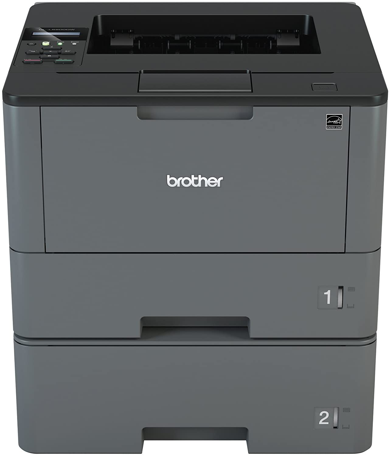 Brother Monochrome Laser Printer, HL-L5200DWT, Duplex Printing, Wireless Networking, Dual Paper Trays, Mobile Printing, Amazon Dash Replenishment ...