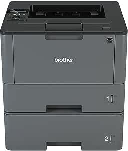 Brother Monochrome Laser Printer, HL-L5200DWT, Duplex Printing, Wireless Networking, Dual Paper Trays, Mobile Printing, Amazon Dash Replenishment ...