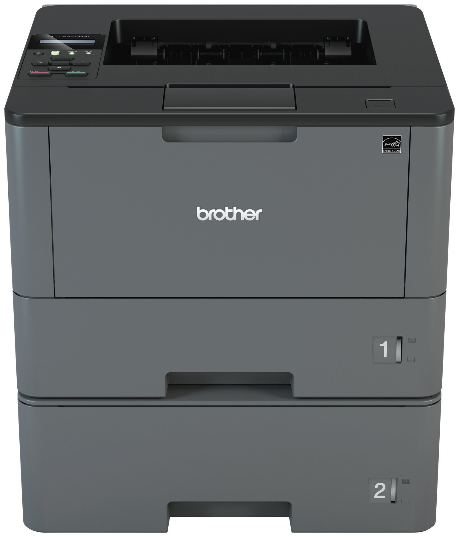 Brother HLL5200DWT Business Laser Printer with Wireless Networking, Duplex and Dual Paper Trays, Amazon Dash Replenishment Enabled by Brother (Image #1)