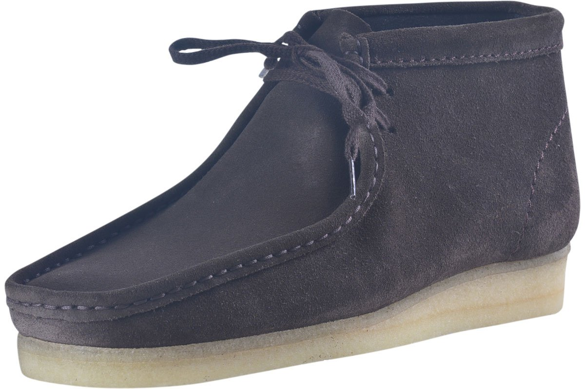 Clarks Originals Men's Wallabee Boot, Brown Suede, 12 M