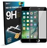 MTT Apple iPhone 7 Plus 3D Full Body Premium Quality Tempered Glass Screen Protector Guard (Black)