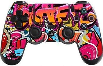 DOTBUY PS4 Controlador Diseñador Piel para Sony PlayStation 4 mando inalámbrico DualShock x 1 (Graffiti Hip Hop): Amazon.es: Electrónica