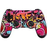 DOTBUY PS4 Controlador Diseñador Piel para Sony PlayStation 4 mando  inalámbrico DualShock x 1 (Graffiti 3ca05eb4e8b3b