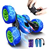 RC Stunt Car for Kids, SHARKOOL 360°Flips Double Sided Rotating 4WD 2.4Ghz Remote Control Car with Sharp Dual-Color Headlight