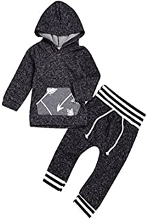 0803b0d308cf Newborn Baby Boy Girl Cotton Airplane Fire Balloon Pattern Hoodie Tops and  Pants 2pc Outfits