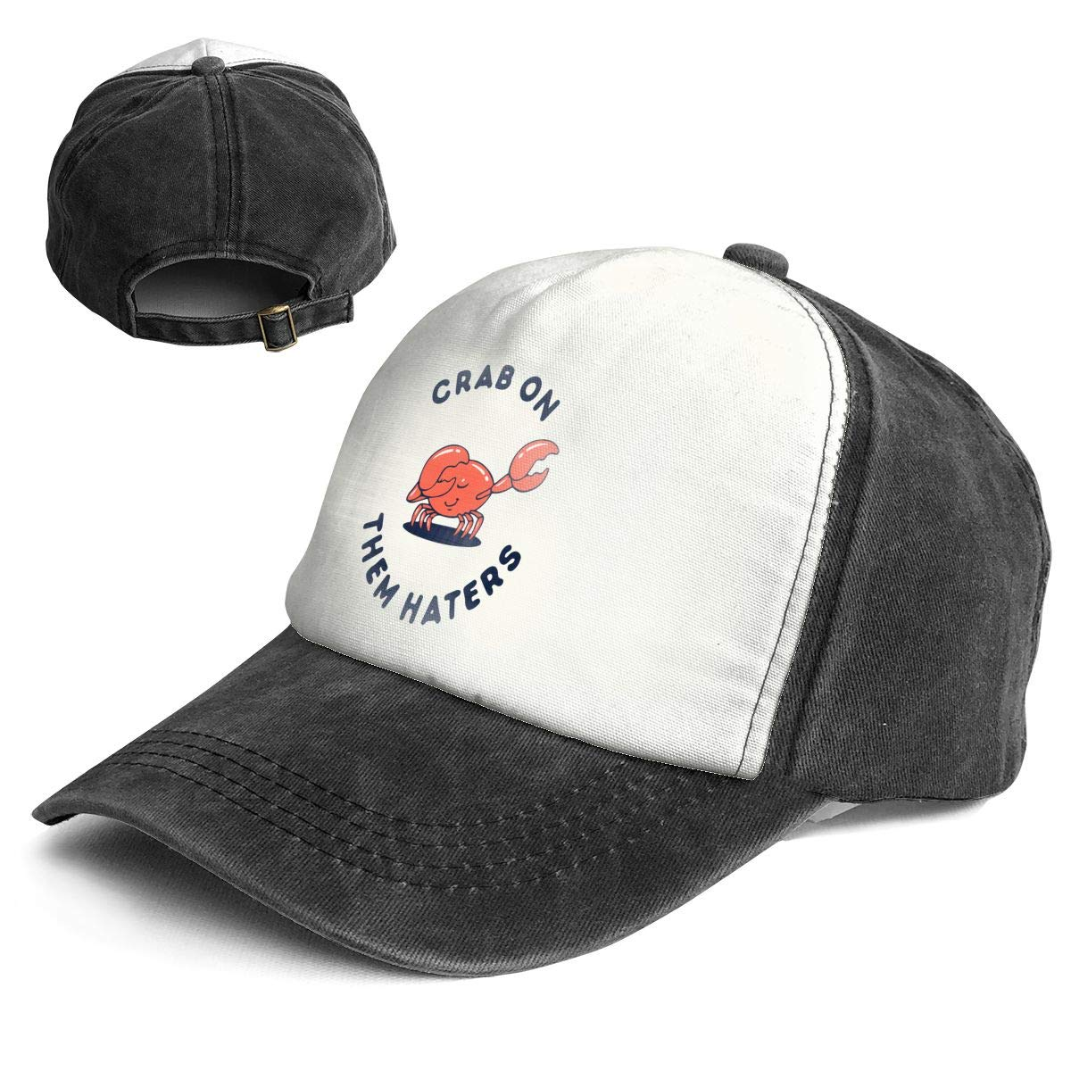 Fashion Vintage Hat Crab On Them Haters Adjustable Dad Hat Baseball Cowboy Cap