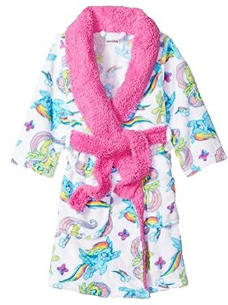 Amazon Com My Little Pony Movie Bathrobe For Toddler Girls Fleece