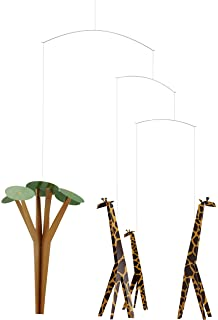 Elephant Party Hanging Nursery Mobile Handmade in Denmark by Flensted 25 Inches Plastic