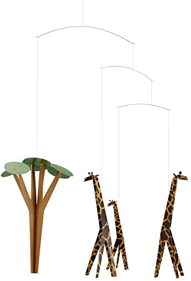 Amazon.com: Jirafas en la sabana Hanging Nursery móvil – 24 ...