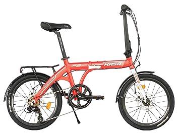 Hasa plegable bicicleta plegable Shimano 7 velocidades rojo
