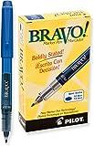 Pilot Bravo! Marker Pen, Marcador, Tinta Líquida Azul, Fino 0.7 mm, Doce Piezas (11035)