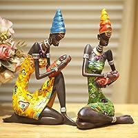 Sculture Da Donna Africana Statuetta In Resina Ornamenti Scenografici Statue D'arredamento Arredamento Artigianato Per Ufficio Scrivania Salotto Armadietto Per Il Vino Caffetteria