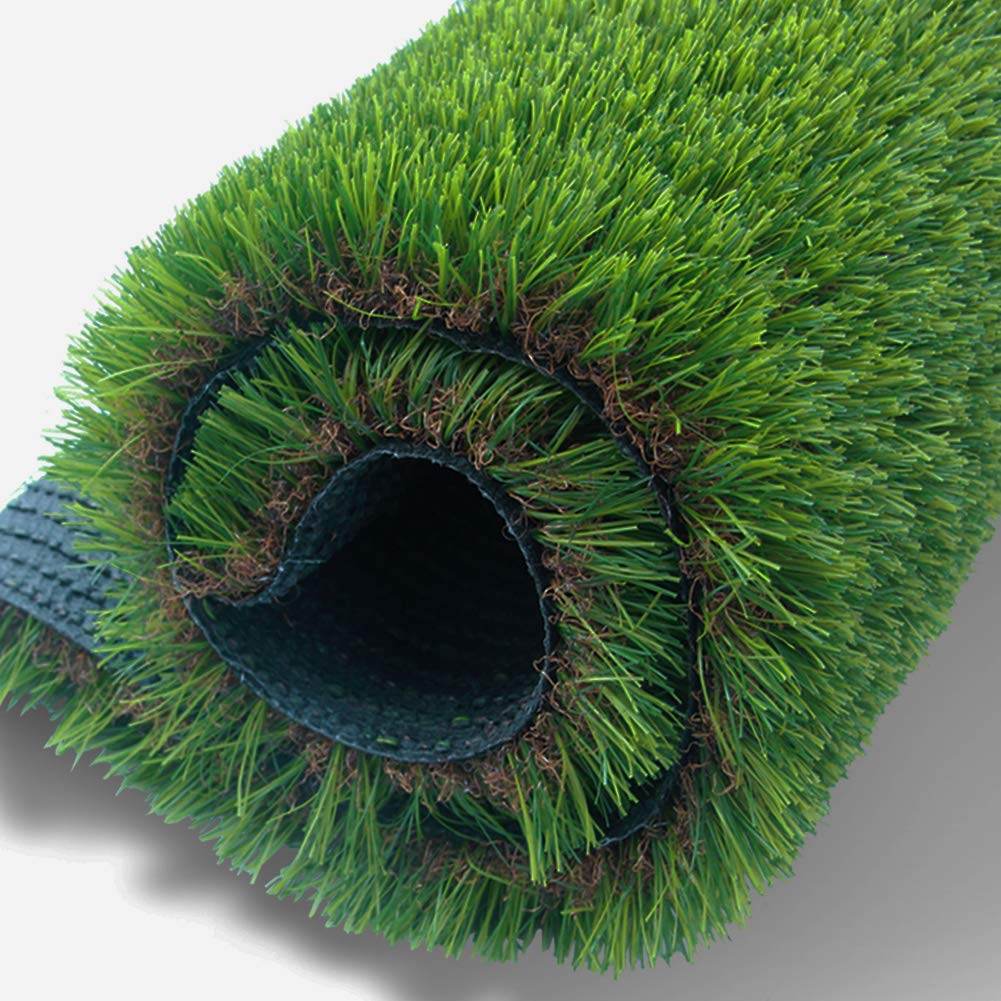 Artificial Grass Rug Synthetic Turf Fake Carpet Mat Easy Care Rubber Backed with Drainage Holes Lawn Area Pet Pad Mat Garden Doormat for Outdoor Decoration (3.3 FT x 5 FT =16.5 Square FT)