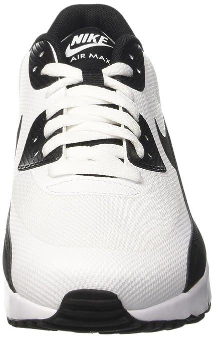 Nike AIR MAX 90 Ultra 2.0 Essential Mens Running Shoes 875695 100_10 WhiteBlack White