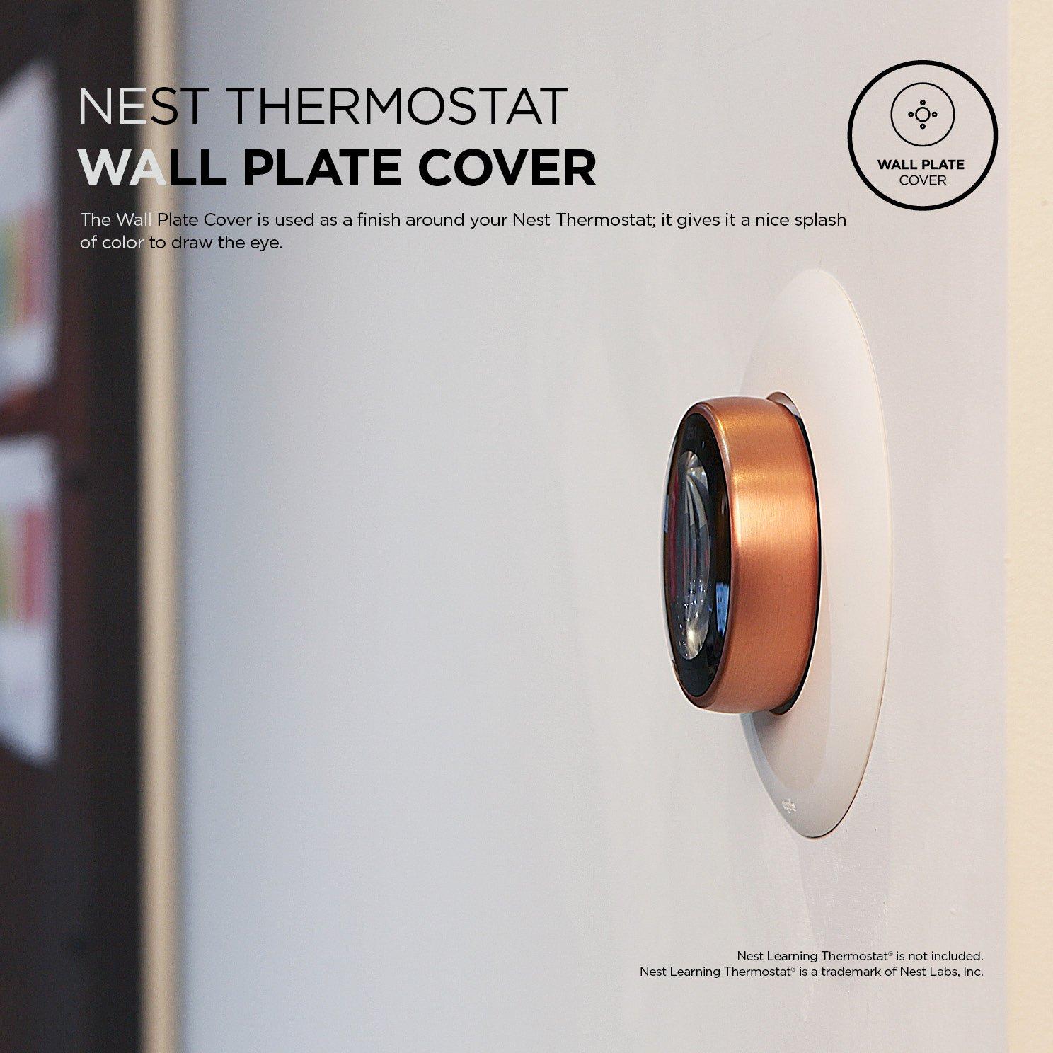 Elago Cubierta de la placa de pared para el termostato de aprendizaje de nidos Blanco mate: Amazon.es: Hogar