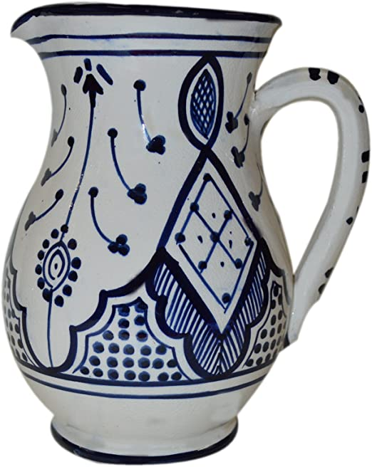 Set of 2 Assorted Hills Parks 6 Ceramic Delft Blue Pitchers