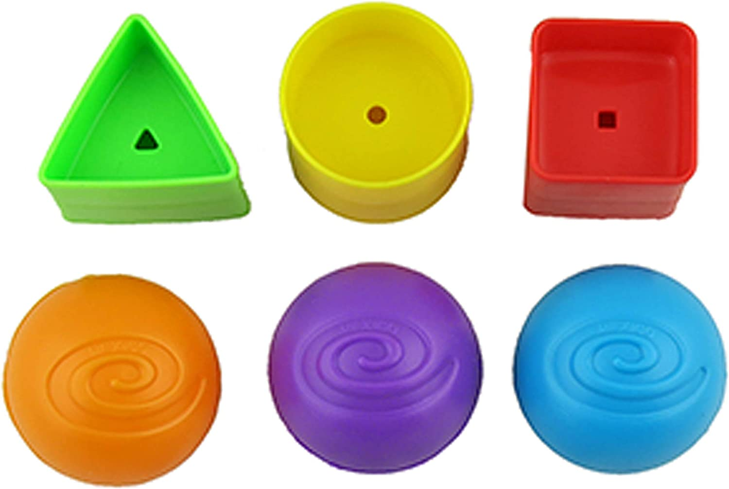 Replacement Parts for Fisher-Price Laugh and Learn Smart Stages Crawl Around Car - DJD09 ~ 3 Balls and 3 Shapes ~ Also Works with Models CJM93 and Y7749