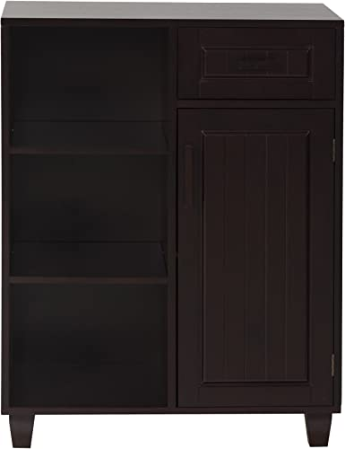 Elegant Home Fashions Catalina Floor Cabinet with 1 Door, 1 Drawer and 3 Shelves