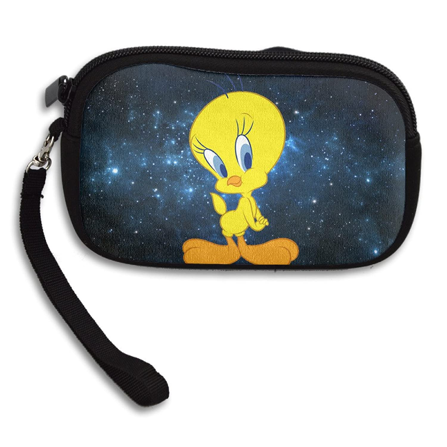 Tweety Bird Personality Wallet Card Holder With Zipper Closure