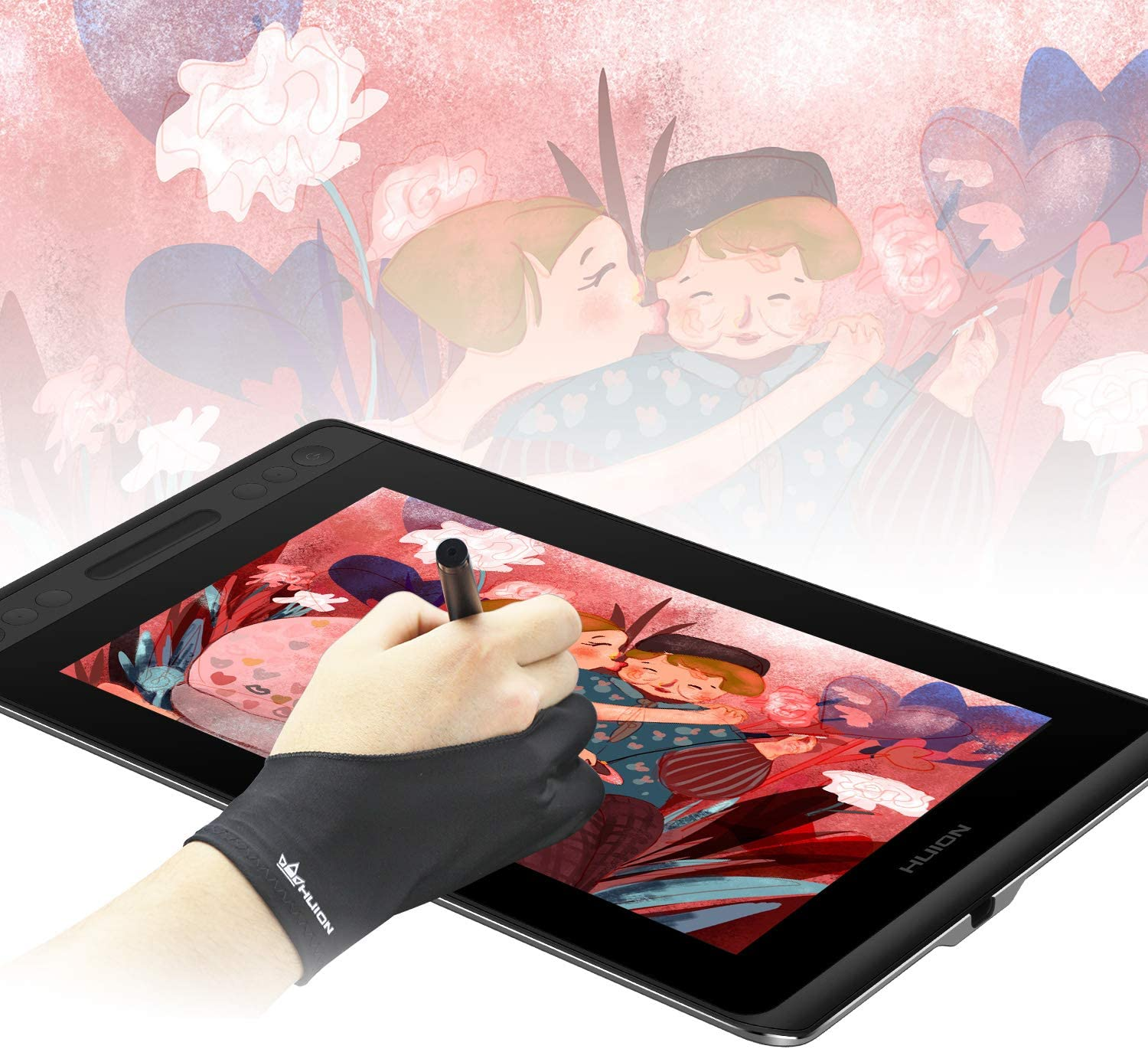 Professional Free Size Artist Drawing Glove for Graphi Tablet Right// Left Han Xx